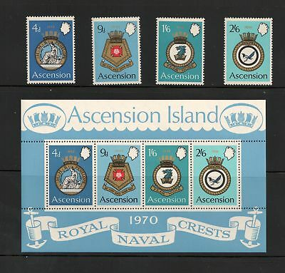 ASCENSION IS Scott 134 - 137a  Naval Arms Type MNH F-VF