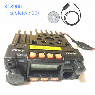 QYT KT-8900 KT8900 136-174/400-480Mhz mini dual band mobile radio w/ USB cable