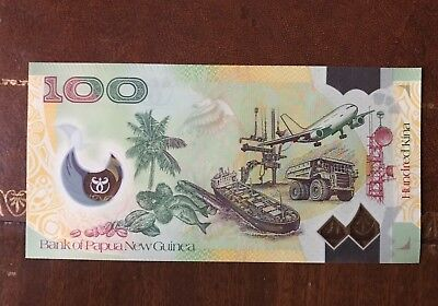 PAPUA NEW GUINEA 100 Kina 2013 P46 40 Years Bank PNG UNC Banknote