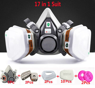 17 in 1 Suit Painting Spraying For 3M 6200 Half Face Gas Mask Respirator