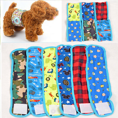 Pet Male Dog Reusable Physiological Washable Pants Sanitary Belly Band Diaper