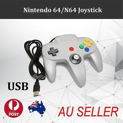 Grey Classic Game USB Controller Gamepad Joystick for Nintendo 64 N64 AU
