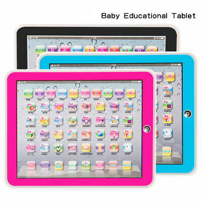 Baby Tablet Educational Toys Pad Laptop Toddler Learning English Game 1-6 years