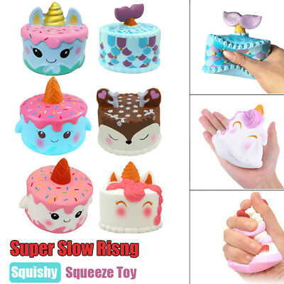 2018 New Jumbo Squishy Super Soft Slow Rising Cake Kids Adult Reduce Stress Toy