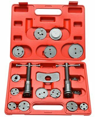 18pc Universal Disc Brake Caliper Piston Compressor Wind Back Repair Tool Kit