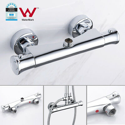 Thermostatic faucet Shower Valve Mixer Top outlet Chrome silvery Bathroom Tap