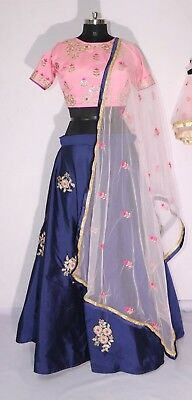 Indian Silk Embroidered Party Wear Lehenga Choli For Women