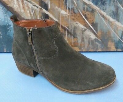 1e6ffedea16a Women s Lucky Brand Basel Italian Olive Suede Flat Booties Ankle Boots 9 39