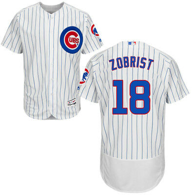 65822457720 Ben Zobrist  18 Chicago Cubs Men s White Cool Flex Baseball Home Game Jersey