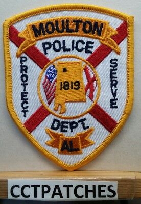 Moulton, Alabama Police Shoulder Patch Al