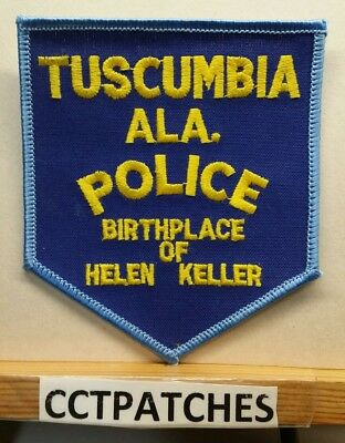 Tuscumbia, Alabama Police (Helen Keller) Shoulder Patch Al