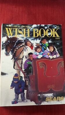 Sears Christmas WISH BOOK catalog, 1991, gently used, with manufacturers dogears