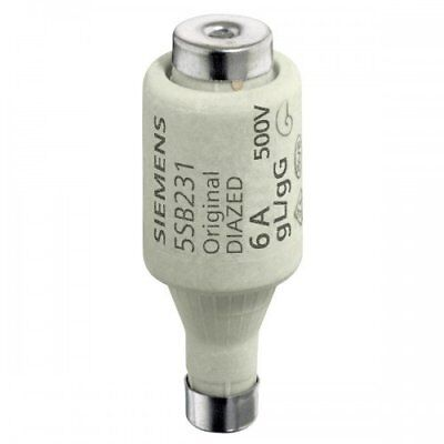 Pack of 5 Siemens is Diazed Fuse Link GL DII E27 6 A 500 5SB231