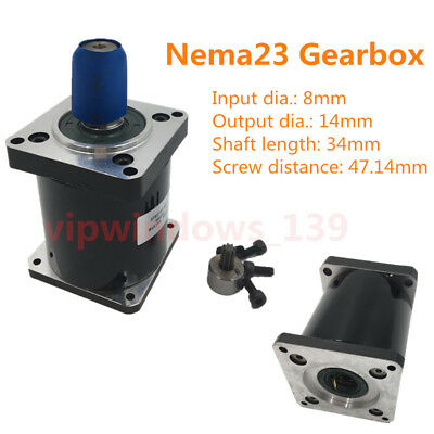 Planetary Geared Speed Reducer NEMA23 Gearbox Ratio 5 10 15 20 25 30 40 50 100