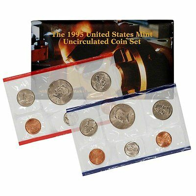 1995 P & D US Mint Set United States Original Government Packaging Box Cello