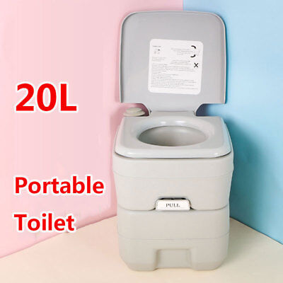 5 Gallon 20L Flush Portable Toilet Outdoor Indoor Travel Camping for Car, Boat