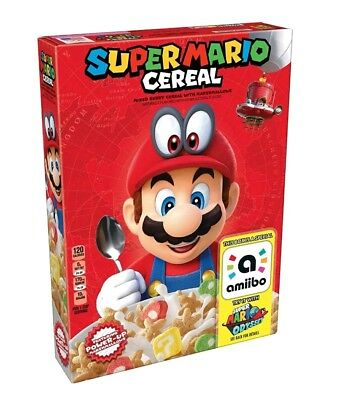 Kellog's SUPER MARIO ODYSSEY CEREAL Limited Edition Nintendo Amiibo -NEW