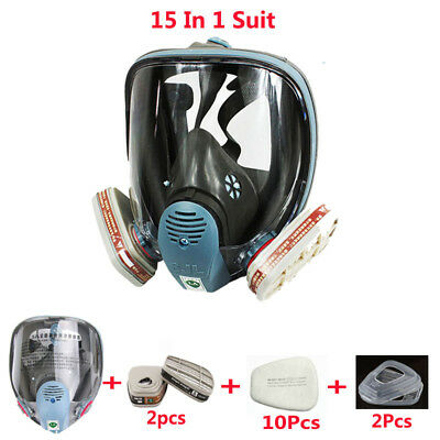 15 in 1 Painting Spraying For 3M 6800 Gas Dust Mask Full Face Respirator masks