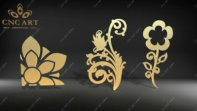 3 Nice designs  DXF, DWG and EPS File For CNC Plasma, Router, laser