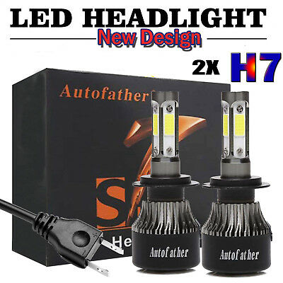 2X H7 LED Headlight Kit 480W High or Low Beam Bulbs 6000K Bright VS Xenon HID