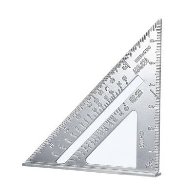 7'' Aluminum Alloy Triangle Angle Protractor Speed Square Measuring Ruler BL9