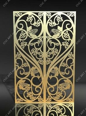 Nice steel gate door  DXF, DWG and EPS File For CNC Plasma, Router, laser (D1)