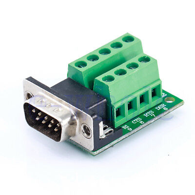 Delock Adapter Sub-D 9 Pin Stecker an Terminalblock Breakout Board RS232 PC BL