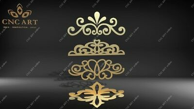 4 Nice ornaments  DXF, DWG and EPS File For CNC Plasma, Router, laser