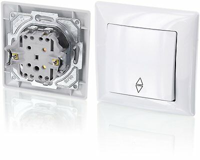 Up Double-Throw Switch – All-in-one – Frame with Flush-Mounted Insert + Cover G1