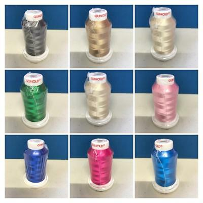 27 Colours to Choose Gunold Sulky Rayon Embroidery Machine Thread 1000m Cones