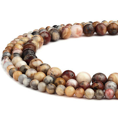 RUBYCA Natural Crazy Horse Stone Artistic Paintbrush Jasper Gemstone Loose Beads