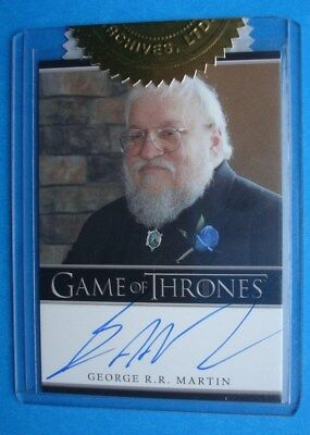 2013 GAME Of THRONES Season 2 Auto/AutoGraph George R.R. MARTIN Author *6CI*