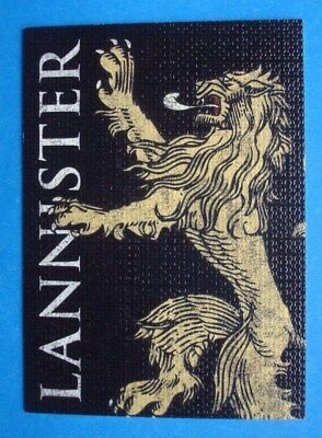 """2013 Rittenhouse *GAME Of THRONES* Season 2 """"Family SIGIL"""" Card # H3 *LANNISTER*"""