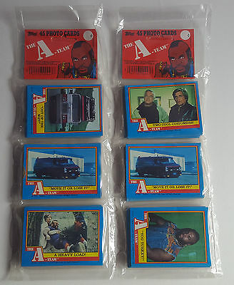 2 x 1983 The A Team Topps Card Rack Packs, Trading Cards, New & Sealed.