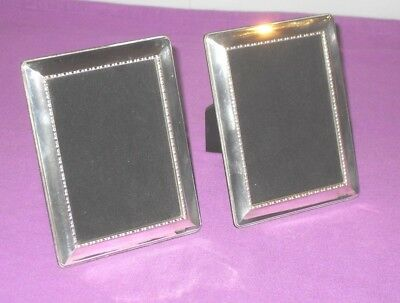 Vintage 1995 Stylish Pair Of Sterling Silver Hallmarked Photo Picture Frames