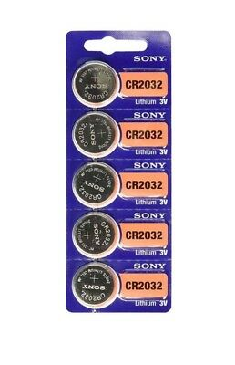 SONY CR2032 5 NEW  3V Lithium Coin Battery Expire 2027 FRESHLY NEW