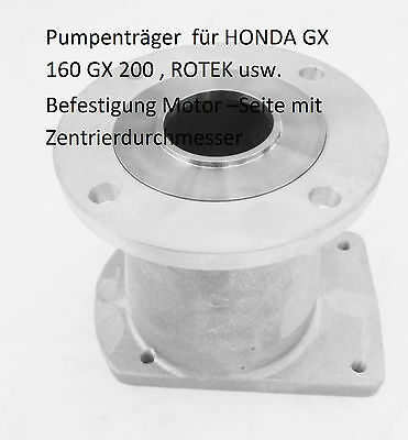 Hydraulic Pump, Bell-Housing for Gasoline Engine Honda GX 160/200 Shaft