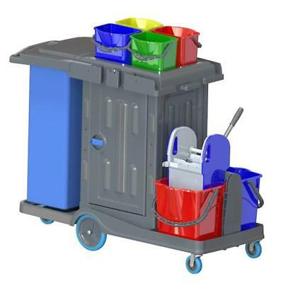 Nova Secure Master Cleaning Cart with Cabinet complete. Hotel Cart, Carts
