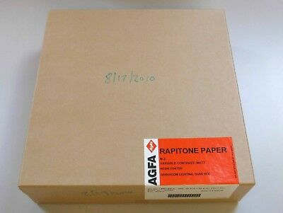 AGFA Rapitone variable contrast photographic paper matte finish 250 sheet box