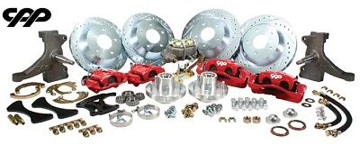 """73-87 CHEVY C10 TRUCK 13"""" FRONT AND 12"""" REAR BIG BRAKE KIT W/ DROP SPINDLES 5x5"""