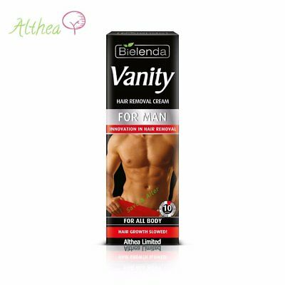 VANITY MEN Hair Removal CREAM for Men, All over the BODY ~ 10 minutes 10 minutes
