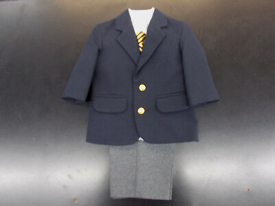 Infant Boys 4-Pc. Navy & Grey Suit Size 12 Months - 18 Months