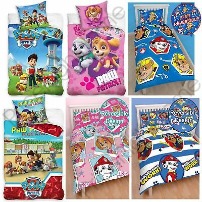 * REDUCED * Paw Patrol Boys Girls Single & Double Duvet Cover Kids Bed Sets