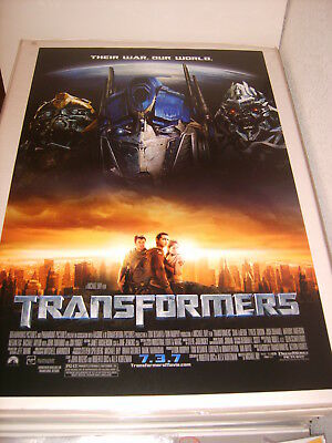 TRANSFORMERS (2007) US AUTHENTIC ORIGINAL 27x40 DS MOVIE POSTER (468)