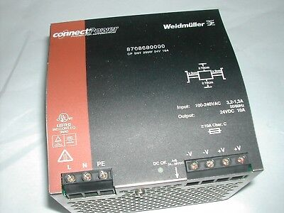Weidmuller Connectpower 24VDC 10A DIN Power Supply 8708680000 USED NICE H6