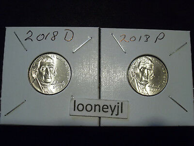 2018 P & D  Nickel BU Full Step from Bank rolls