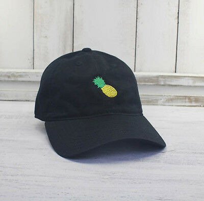 f7d143bc541 Pineapple Dad Hat Embroidered Baseball Cap Curved Bill 100% Cotton Emoji