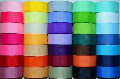 Wholesale 7/8'' Grosgrain Ribbon Lot 35 Yards Solid Colors Usa Seller Re32
