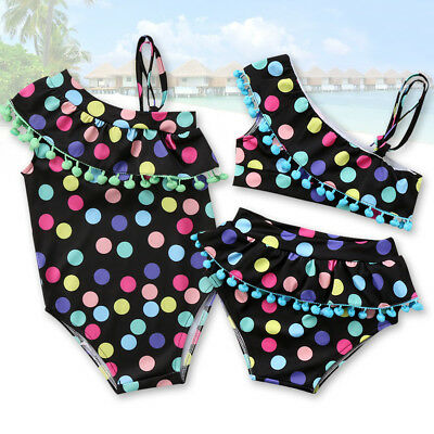Cute Kids Baby Girls Swimsuit Swimwear Beachwear Tankini Bikini Bathing Suit Set