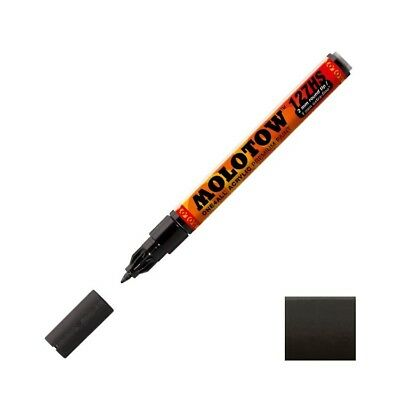 Molotow ONE4ALL signal black 1mm refillable pump marker made in Germany